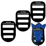 Jeatonge Pocket Square Holder Keeper Organizer Pocket Squares for Men Prefolded (Holder 3 Pcs) ...