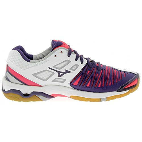 Chaussures Mizuno Wave Stealth 4 blanc/violet/rose