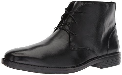 Bostonian Men's Birkett Mid Chukka Boot, Black Leather, 080 M US