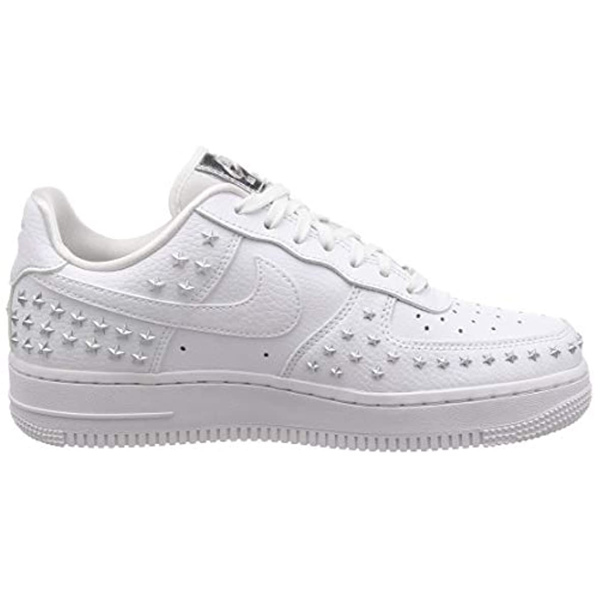 Nike Sneakers Wmns Air Force 1 '07 Xx Bianco Argento Ar0639-100 42 5 - Bianco