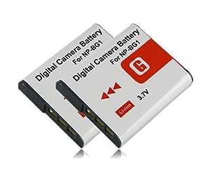 M&L Mobiles® | 2x Batería NP-BG1 NPBG1 para Sony CyberShot DSC-H3 | DSC-H7 | DSC-H9 | DSC-H10 | DSC-H20 | DSC-H50 | DSC-H55 | DSC-H70 | DSC-H90 | DSC-N1 | DSC-N2 | DSC-T20 | DSC-T25 | DSC-T100 | DSC-W30 | DSC-W35 | DSC-W40 | DSC-W50 etc...