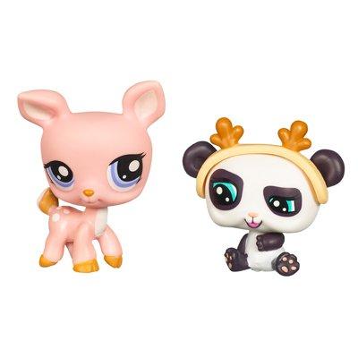Littlest Pet Shop 2010 Assortment 'B' Series 2 Collectible Figure Deer & Panda Bear