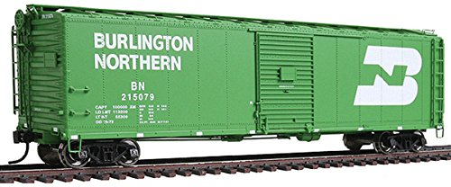 WalthersProto - 50' AAR Single-Door Boxcar - Burlington Northern #215079 - Cascade Green with Large White Logo - Ready to Run (Door Boxcar Aar Single)