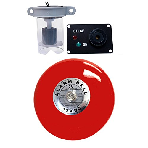 Skippers Bilge High Water Alarm with Loud Bell Bilge Warning, 12 Volt