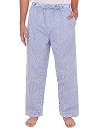 Del Rossa Mens Cotton Pajama Pants, Long Woven Pj Bottoms