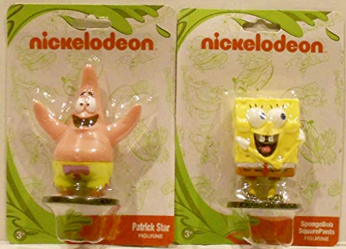 (Monogram International Nickelodeon 2 Character Figurine/Cake Topper Bundle - PVC 2.75 inches - Spongebob Squarepants & Patrick Star)