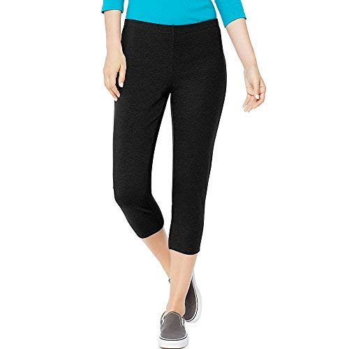 Hanes By Women's Stretch Jersey Capris_Black_L