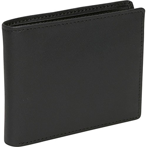 Royce Leather Men's RFID Blocking Bifold Wallet in Leather with Double Id Display, Black