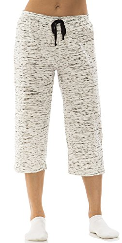 dollhouse (6221DH) Womans Marled Cotton Jersey Capri Lounge Pant Size: Large In Black (001) by dollhouse