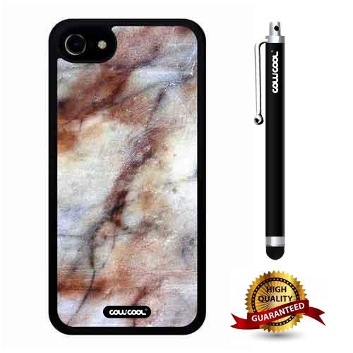 iphone 7 Case, Marble Pattern Case, Cowcool Ultra Thin Soft Silicone Case for Apple iphone 7 - Clouds Cascade Marble Texture (Cascade Sunshine)