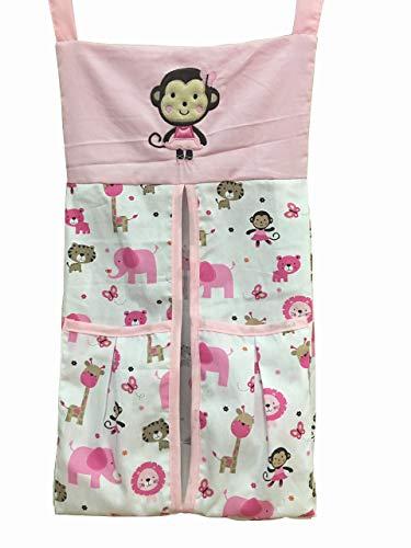 Baby Girl Sweet Zoo Crib Set Diaper Stacker