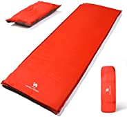 "CAMEL CROWN Camping Sleeping Pad 2"" Thick Foam Mat,Individual/Double Self-Inflating Sleeping Pad Air Matt"