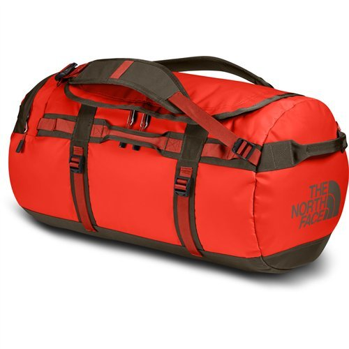 The North Face Base Camp Duffel Medium Acrylic Orange/Falcon Brown by The North Face