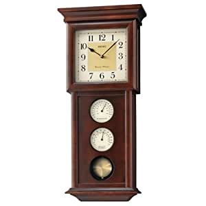 seiko clocks chime with pendulum wall clock qxh050blh