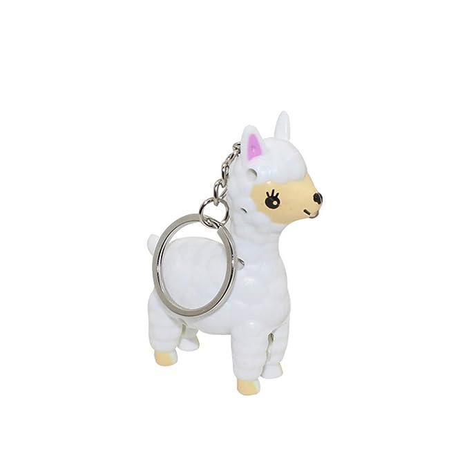 Amazon.com: Floralby - Llavero de Alpaca con llavero con luz ...