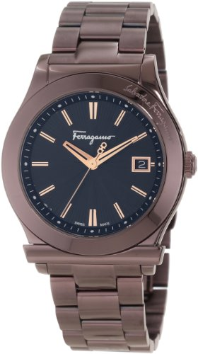 Salvatore-Ferragamo-Mens-F62LBQ6509-S065-Salvatore-Ferragamo-1898-Brown-IP-Date-Watch