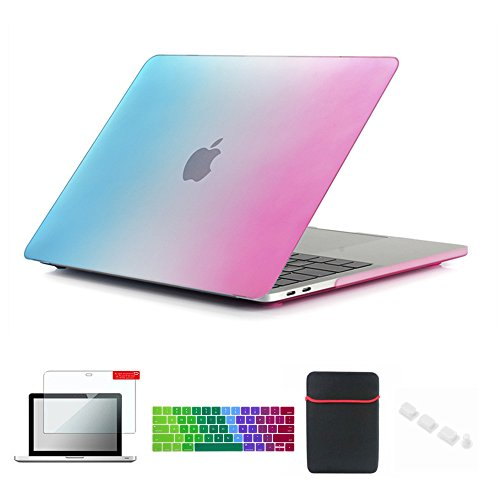 Se7enline Macbook Pro 13 2016-2018 Case Soft-Touch Hard Case Cover for Macbook Pro 13 inch with/without Touch Bar A1706/A1708/A1989 with Sleeve Bag,Keyboard Cover, Screen Protector, Dust plug, -