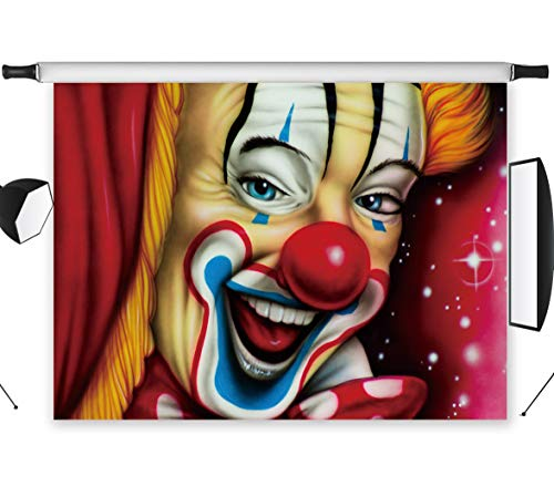 LB 7x5ft Vinyl Carnival Circus Photo Backdrops Customized Halloween Clown Photography Backdrop Kids Parties Event Portrait Photo Booth Studio Props -