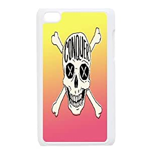 {Funny Quote Series} iPhone 6 Plus Case Typography Conquer Skull, Hardshell Case Yearinspace - White