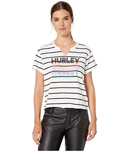 - Hurley Women's Suki Stacked Tee White Small