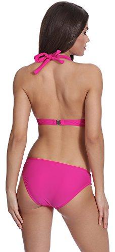 Verano Bikini Conjunto Push Up para mujer Vivian Rosa/Salmón