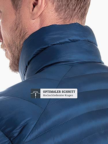 Schöffel Thermo Jacket Val d Isere3, gesteppte Thermojacke mit hochschließendem Kragen, wärmende und atmungsaktive Skijacke Herren, navy peony, 48 5