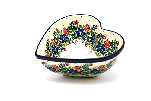 Polish Pottery Bowl - Deep Heart - Garden Party