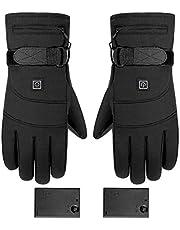 Verwarmde handschoenen, oplaadbare, op batterijen werkende elektrische handwarmer, 3 temperatuurniveaus, antislip touchscreen-handschoenen, voor jagen, vissen, skiën