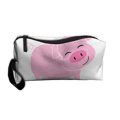 Jessent Coin Pouch Smile Pig Pen Holder Clutch Wristlet Wallets Purse Portable Storage Case Cosmetic Bags Zipper -