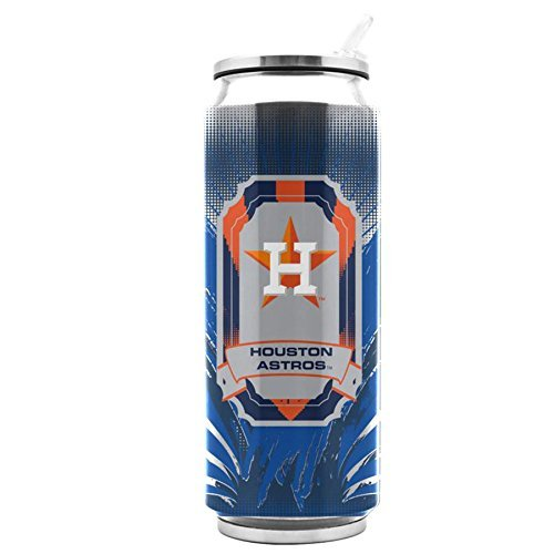 Houston Astros Stainless Steel (MLB Stainless Steel Thermo Can Travel Tumbler 16.9 Ounces (Houston Astros))