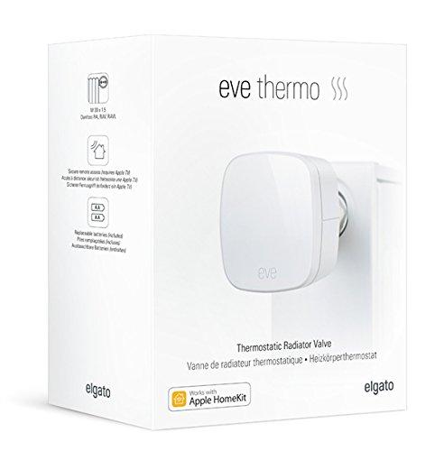 Elgato Eve Thermo (Generación anterior) - Válvula termostática para radiador con la tecnología Apple HomeKit, Bluetooth Low Energy, color blanco: Amazon.es: ...