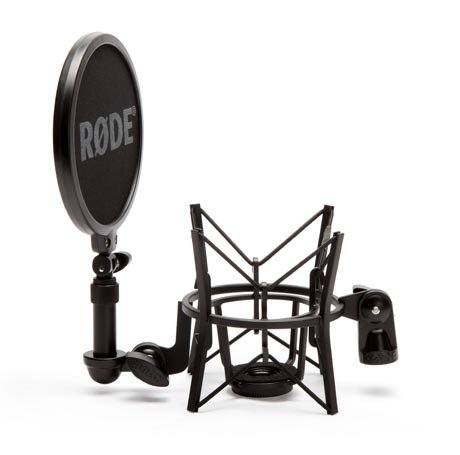 (RODE SM6 Shock Mount with Integrated Pop Shield)