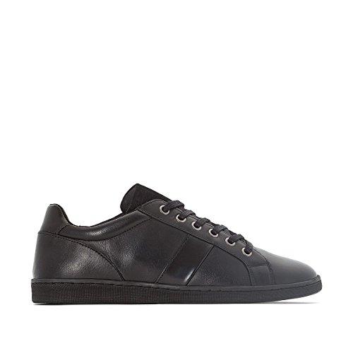 La Redoute Collections Mann Sneakers Aus Leder Gre 42 Schwarz
