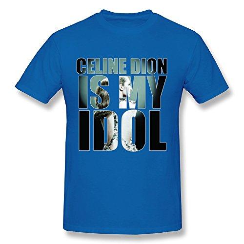 YOGUYA Men's Celine Dion T-shirt RoyalBlue - Shirt T Mens Celine