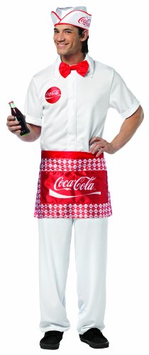 Costumes Adult Cocacola (Rasta Imposta Coca-Cola Soda Jerk, White, One)