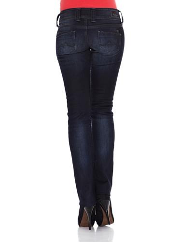Pepe, Damen Jeans Hose, Venus Straight,Stretchdenim,darkblue [20068] Blau
