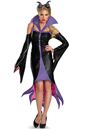 Disney Disguise Women's Sleeping Beauty Maleficent Sassy Costume, Purple/Black, Medium