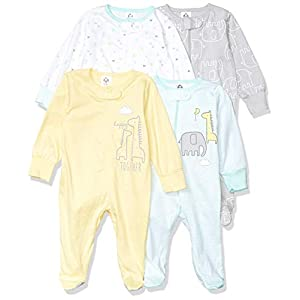 Best Epic Trends 41FbZZDex%2BL._SS300_ Gerber unisex-baby 4 Pack Sleep 'N Play Footie