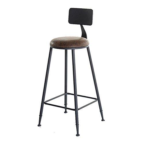 (LBYMYB Industrial Wind Wrought Iron Bar Stools Tables Cafe Bar Stools Modern Minimalist High Stools Bar Stool (Color : H))