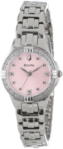 Bulova Womens 96R171 Diamond-Set Case Watch with Link Bracelet