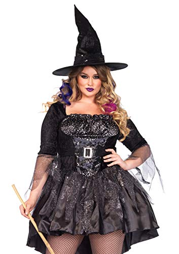 Halloween Plus Size Black Magic Witch Costume