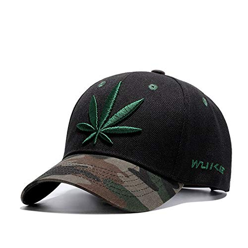 2018 Embroidery Maple Leaf Cap Weed Snapback Hats for Men Women Cotton Swag Hip Hop Fitted Baseball Caps by ECOATUP