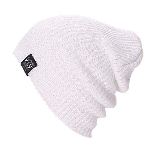 Laimeng_World Men Women Baggy Warm Crochet Winter Wool Knit Ski Beanie Skull Slouchy Caps Hat -