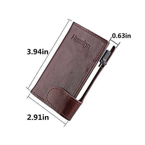 Men Card Vintage Creativity Case Genuine Specific Huasign Wallet RFID Slim Brown Leather OqXSd