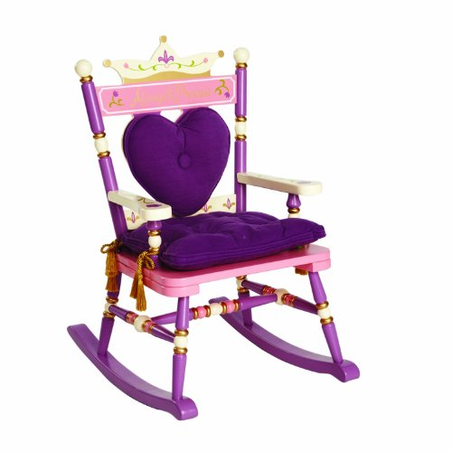 (Wildkin Royal Rocking Chair, Features Removable Plush Cushions and Gilded Tassels, Perfect for the Little Princess in Your Life – Pink)
