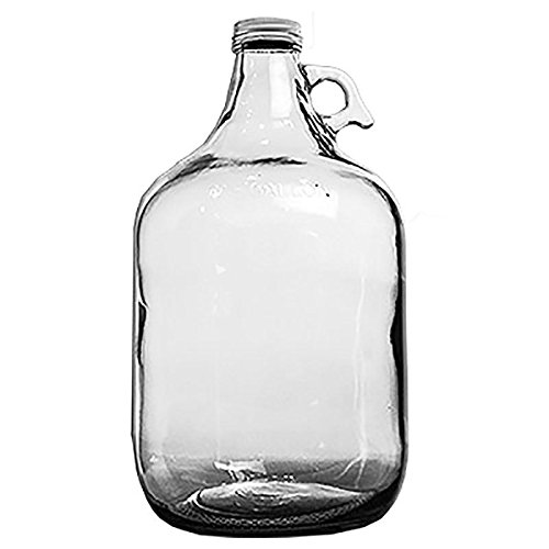 Home Brew Ohio Glass Water Bottle Includes 38 mm Metal Screw Cap, 1 gallon (Large Glass Jug)