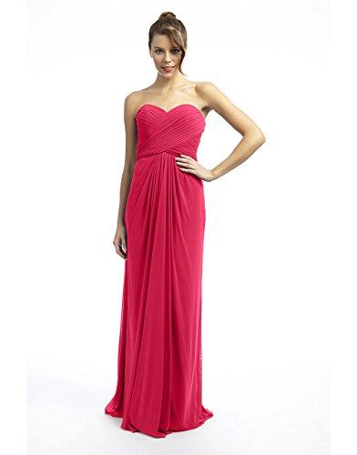 Joni Damen Coral Spirit 1022427ss16 Kleid lange Dynasty mit Schal Korallenrot Stil TCaqO5Owx