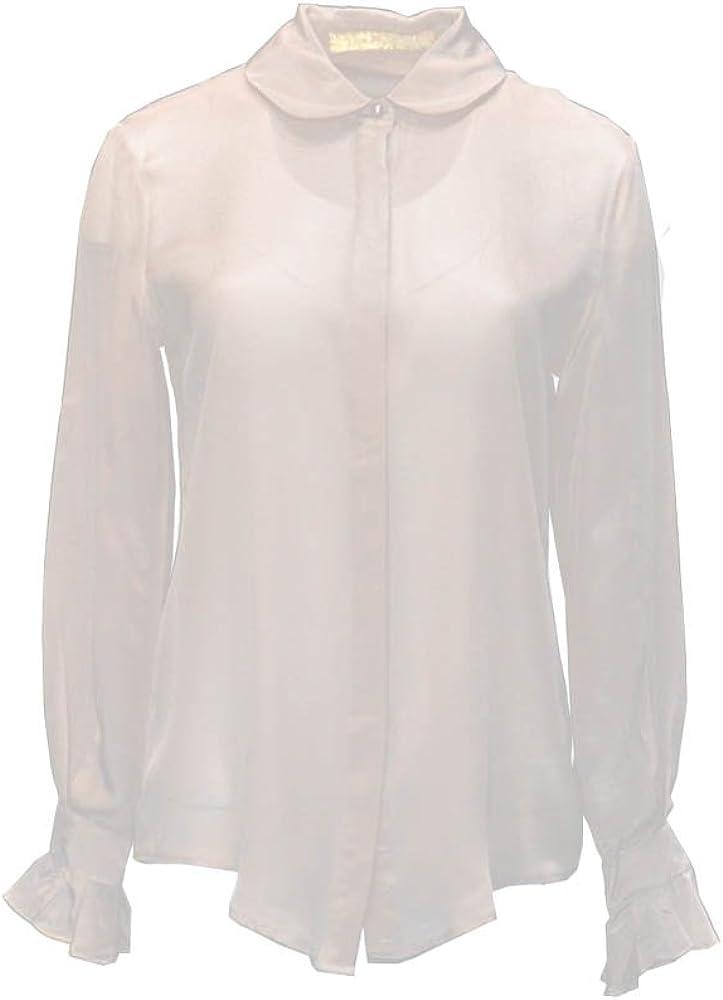 ANA PIRES MILANO Camisa Angel, 100% Seda, con Botones, Liso: Amazon.es: Ropa y accesorios