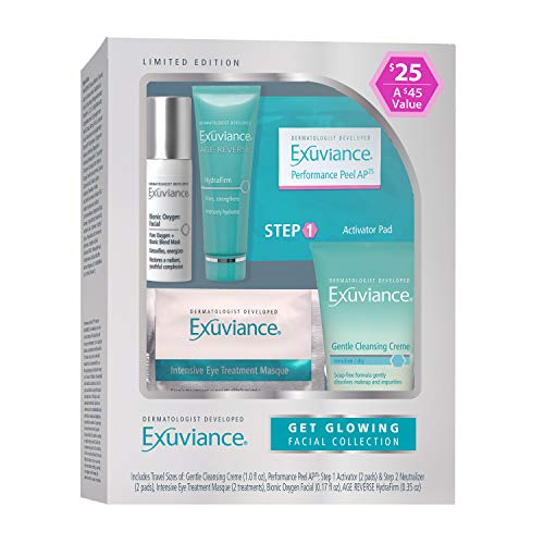 Exuviance Get Glowing Facial Collection : Gentle Cleansing Creme, Performance Peels AP25, Intensive Eye Treatment Masque, Bionic Oxygen Facial, Age Reverse HydraFirm - Exuviance Eye Care