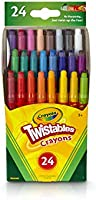 Crayola Twistables Crayons Coloring Set, Kids Indoor Activities at Home, 24 Count